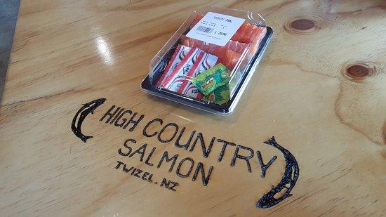 Twizel, Nueva Zelanda: 鮭魚生魚片