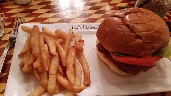 Kafe Kokopelli: You better be hungry to finish even the basic burger lunch!