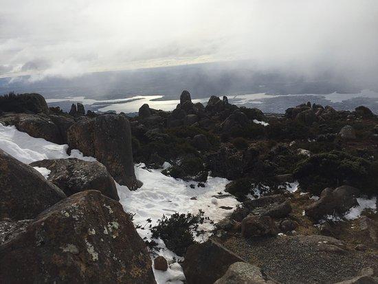 Mount Wellington: Top of Mt Wellington - winter's day