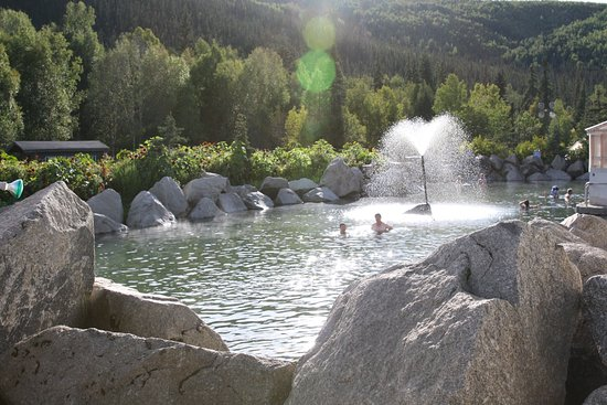 Pleasant Valley, AK: view hotsprings in different angle