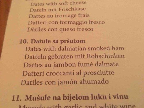 Konoba MARETA: dates and prosciutto