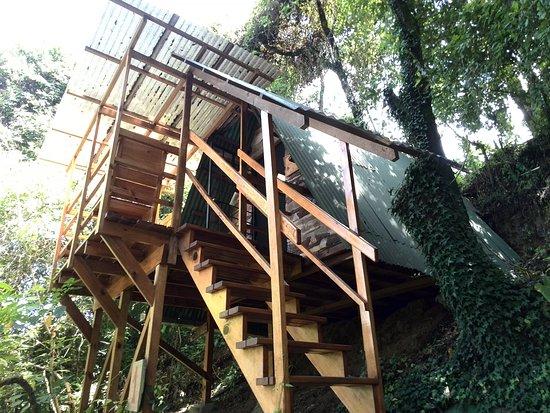 Earth Lodge : Entrada a una de las Canopy Cabin