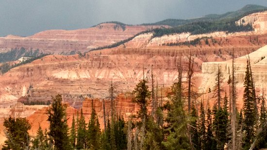 Cedar Breaks National Monument: Storm clouds to the North, 5 minutes from Brian Head