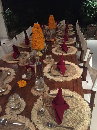 Goddess Retreats: One of our tables