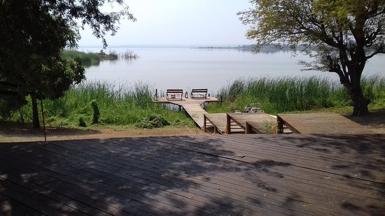 Mubanga Lodge: View of Jetty from restaurant
