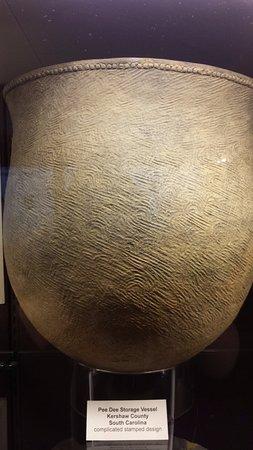 Rankin Museum - Ellerbe - Ornately decorated pottery storage vessel