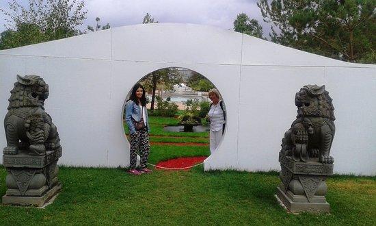 jardin des plantes entrance to chinese garden - Jardin Des Plantes Rouen