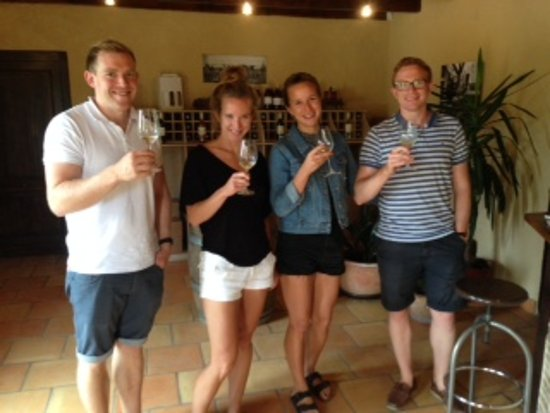 Tremolat, Frankrike: Wine tour with Gwilym and friends