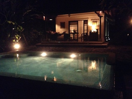Plataran Canggu Resort & Spa: our villa by moonlight