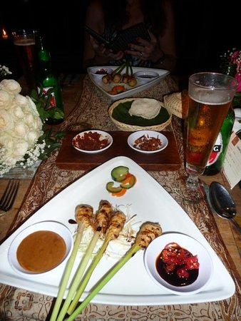 Plataran Canggu Resort & Spa: traditional balinese chicken satay