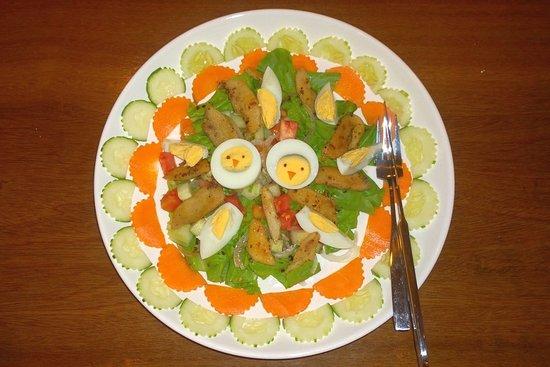 Don Khone, Laos: La salade de poulet