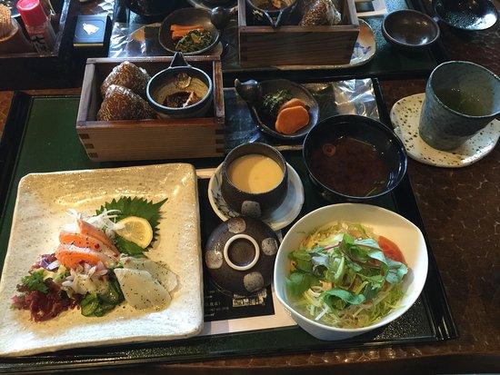 筑後市, 福岡県, うなむすのランチ。この日はカルパッチョを選びました