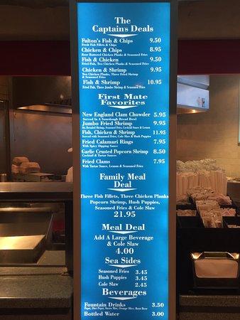 Fulton Fish Fries : メニュー表1