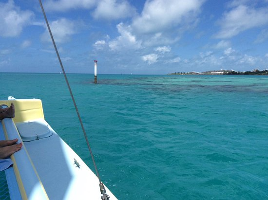Hamilton, Islas Bermudas: Views as your sailing out to the snorkel area. 🐠🐡