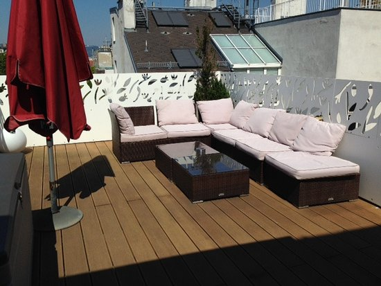 Hotel Rathaus Wein & Design: Private roof terrace