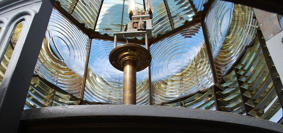 Florence, OR: The large 'Fresnel Lenses' which focus the light into a powerful long range beam
