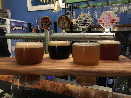 Port Noarlunga, Australien: Craftalishious Beer Tasting Paddle