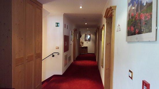 Hotel Garni Franca: corridoio comune al piano primo