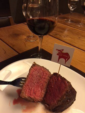 Delicious tender Argentine beef with a fine Malbec