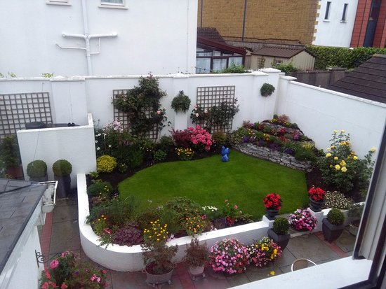 Petra House Bed and Breakfast: View from bedroom to beautiful garden
