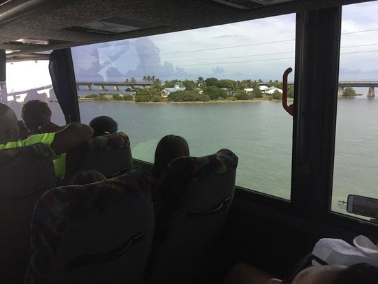 Miami Tour Company: On the bus to Key West: nice view!