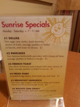 Wadsworth, OH: Breakfast Specials!