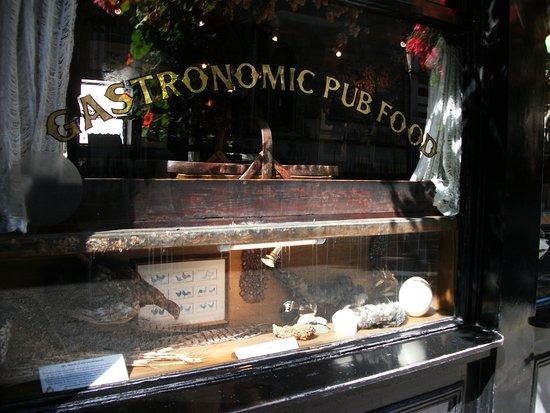 The Seven Stars: Pub window display