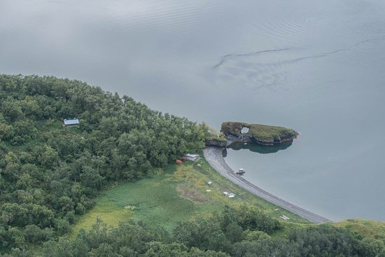 Kodiak National Wildlife Refuge, AK: The Amook Island cabin area from the seaplane