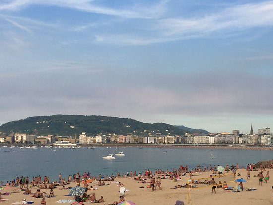 Playa de Ondarreta: Vista playa Ondarreta