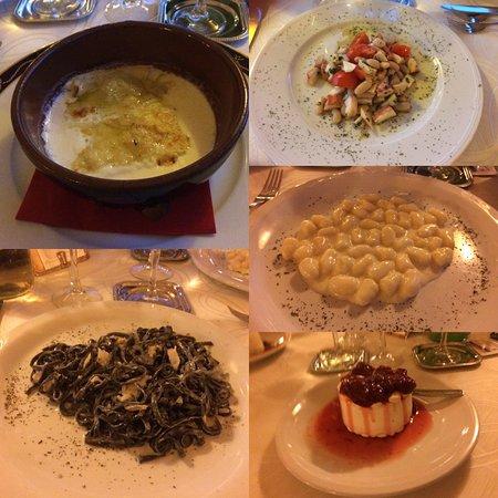 Madonna del Sasso, Włochy: Alcune pietanze dal ristorante