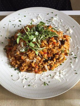 Collado Mediano, España: Risotto con setas y verduras