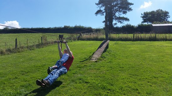Adventure Cottages: The zip-wire