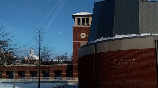 Kirksville, MO: The Planetarium in the winter.
