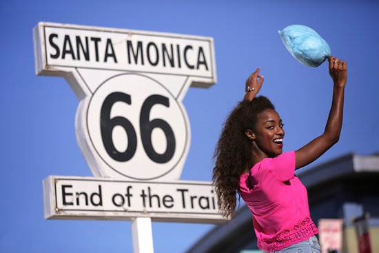 Santa Monica, CA: Route 66 sign on Pier