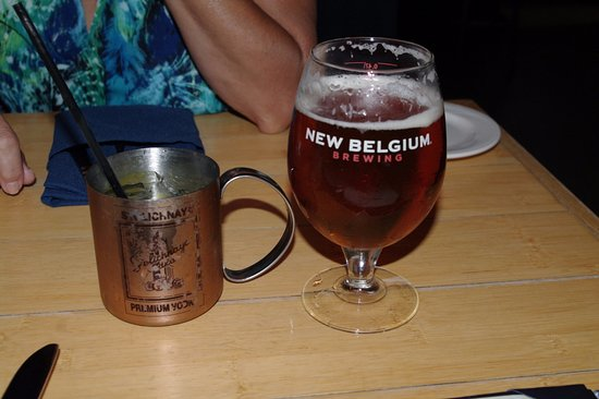 Seaside Park, NJ: Blue Mule and New Belgium Fat Tire beer