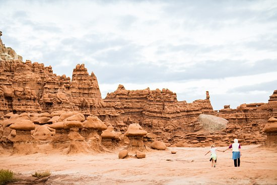 Utah Walking Amidst The Hoodoos Of Goblin Valley State Park Wayne County