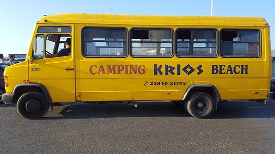 Krios Beach Camping: Navette gratuite du camping