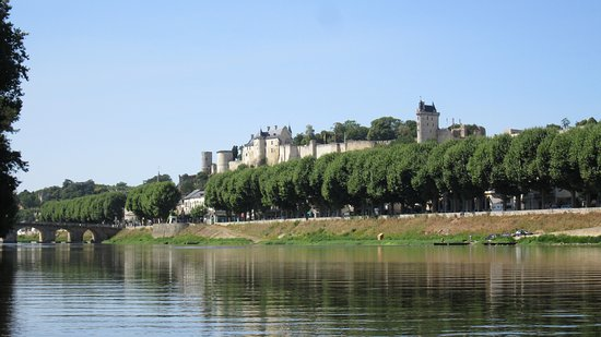 Descartes, France: Chinon - view from the canoe