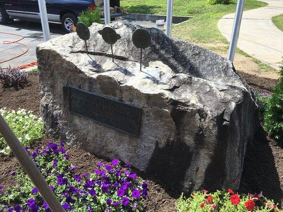 Inlet, NY: Arrowhead Park - new memorial