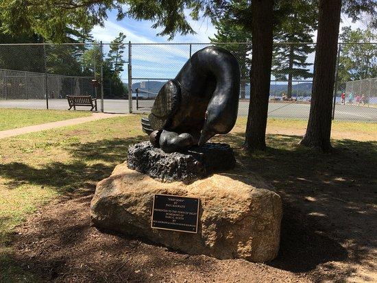 Inlet, NY: Arrowhead Park - statue inside park
