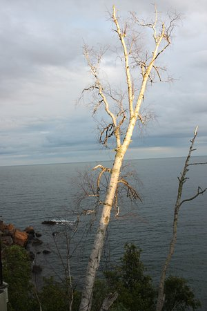 The Cliff Dweller on Lake Superior: View from our deck