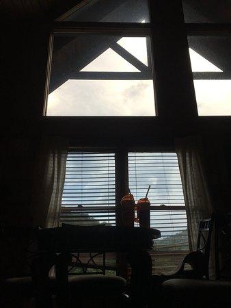 Hemlock Hills Resort: Picture window in cabin