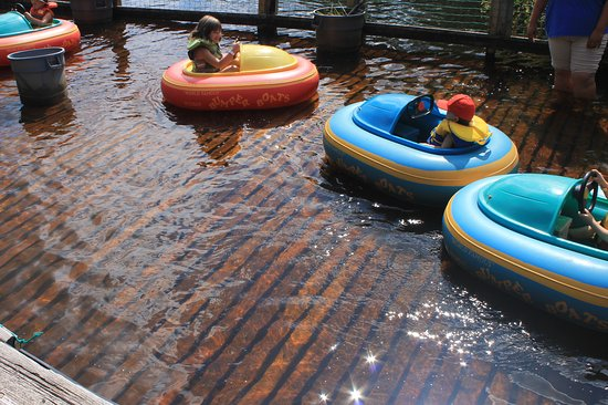 Upper Clements Parks: baby bumper boats