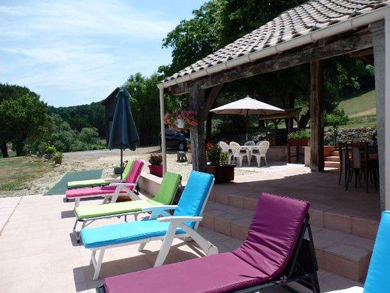 Castelmoron-sur-Lot, Frankrike: Lekker luieren.