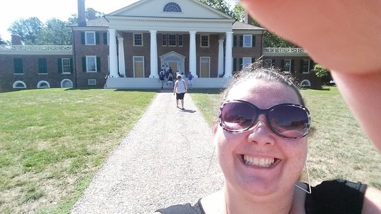 Montpelier Station, VA: Infront of his home