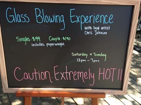 Ventana Inn & Spa: A special day w/ Chris giving glass blowing classes.