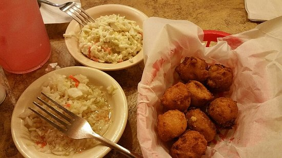 Catfish Cabin: Hushpuppies and two slaws