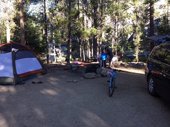 Yosemite Creek Campground : Nice big site.