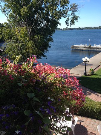 The Gananoque Inn and Spa: View from dining balcony