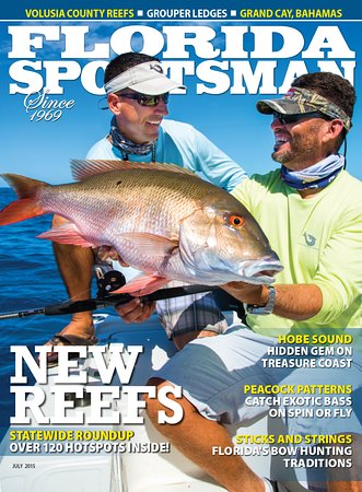 Jensen Beach, FL: Capt.George on the cover of Florida Sportsman Magazine